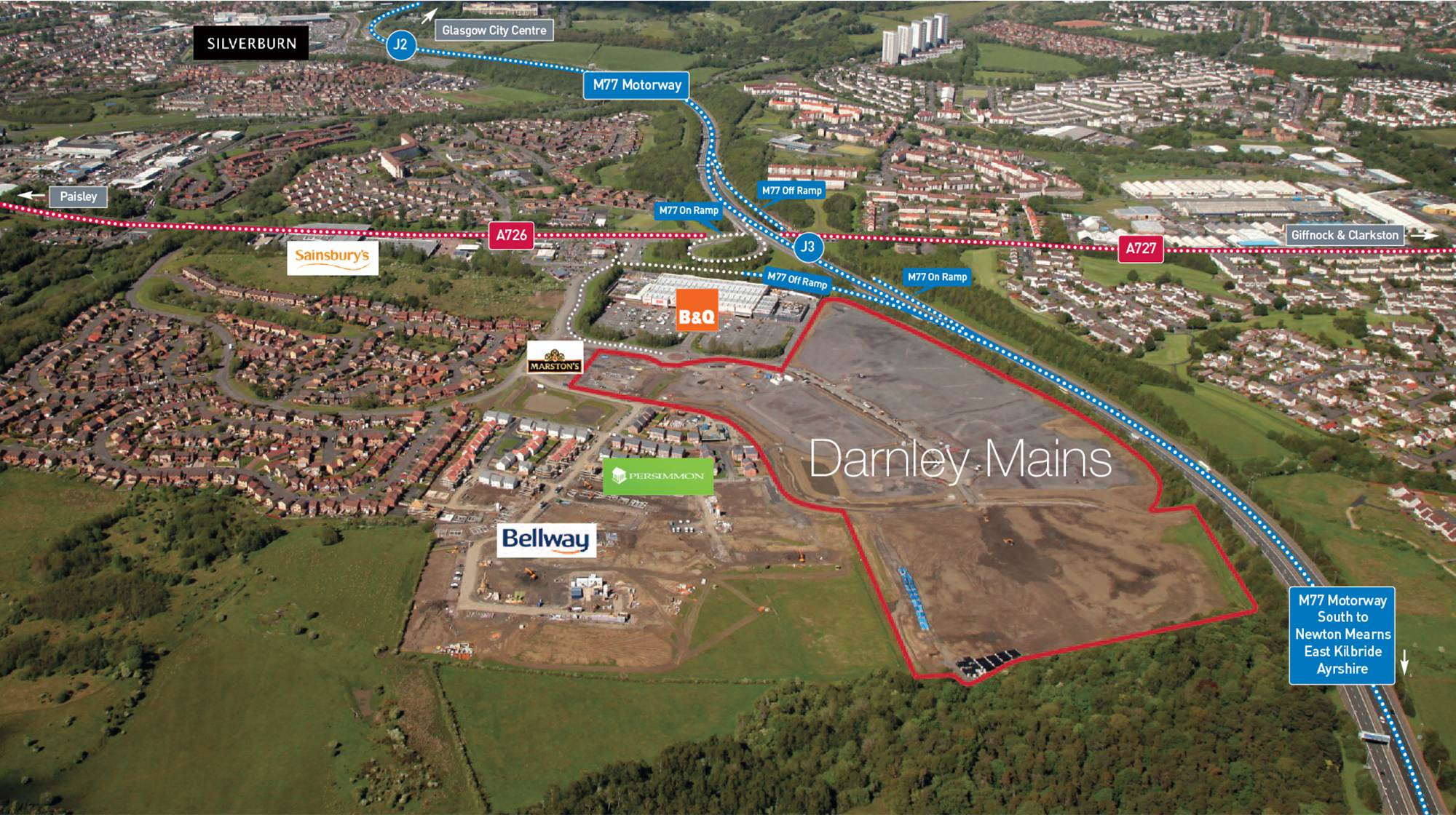 Site Aerial With Transport Links